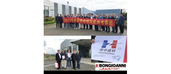 Bongioanni Macchine S.p.A. welcomes a Delegation of the Chinese Brickmakers Association