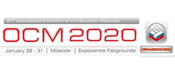 Bongioanni participates at the 21st edition of the Cerambricktech  JANUARY 28 - 31, 2020 MOSCOW Stand n ° A4, Pavillon 7.