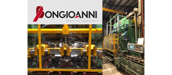 Press type CRONO 333 with three moulds for the production of tiles up to 10 pcs/m2
