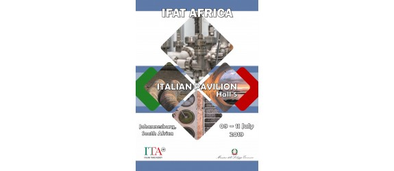 IFAT Africa Johannesburg 09-11 luglio 2019 Forum e Exhibition al Gallagher Convention Center, Johannesburg Sudafrica