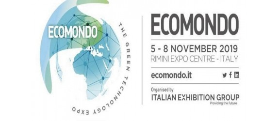 Participation at the 23rd edition of Ecomondo from 5 to 8 November 2019 at the Italian Exhibition Group - Rimini, Italy